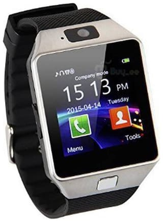crystal digital DZ09 Smartwatch with Pedometer;Camera;Sim Card;Sleep Monitoring Support for all Android/IOS Smartphone (silver)