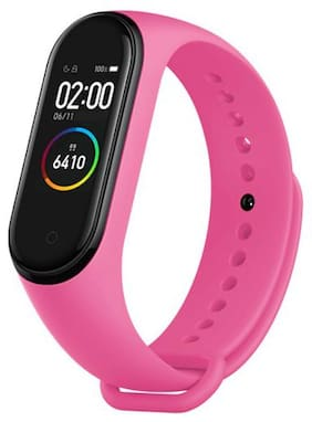 Crystal Digital M5 Band Heart Rate Monitor OLED Display Waterproof Sports Health Activity Fitness Smartband Bracelet (Pink)