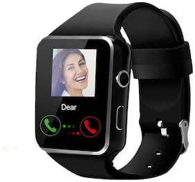 Crystal Digital X6 Curve Display Bluetooth Smartwatch with Camera and Sim Card Support Black