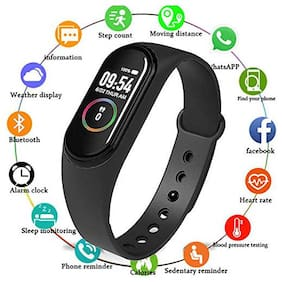 Crystal Digital M4 Smart Fitness Band With Heart Rate Sensor/Pedometer/Sleep Monitoring Compatible For All Android 4.0 Version Enabled Devices