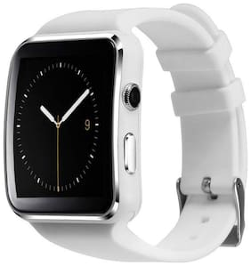 TSV   X6 Bluetooth Smart Watch with Camera and Sim Card Support  and Fitness Band Feature Compitable with All Smart Phones (X6 White )