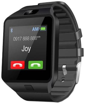 TSV DZ09 Bluetooth Smart Watch Compatible with All 3G  4G Phone with Camera and Sim Card Support  for Men boy Kids Stylish Girls and Women (Black)