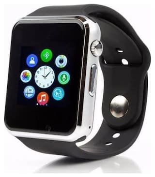 TSV Bluetooth A1 Smart Watch Compatible with All 3G  4G Phone with Camera and Sim Card Support (Silver)
