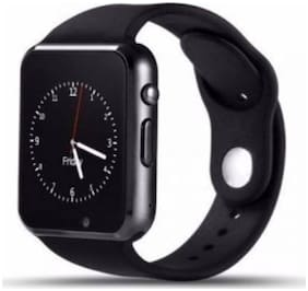 Crystal Digital Apple iPhone 6 32GB Compatible A1 Bluetooth SmartWatch with Camera and Sim Card Support (Black)