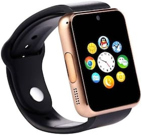 Crystal Digital  A1 Sim Card and Sleep Monitoring Support Smartwatch with Ultra Small S530 Bluetooth 4.0 Headset (Gold)