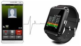 Crystal Digital U8 Smart Phone Watch, Health & Fitness Black Smartwatch (Black)