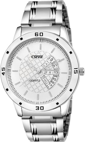 Cstyle White Dial Day And Date Anlaog Watch For Men-CT74