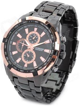 Curren Black Chronograph Watch