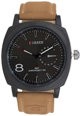 Curren Synthetic Leather Strap Analog Watch For Men
