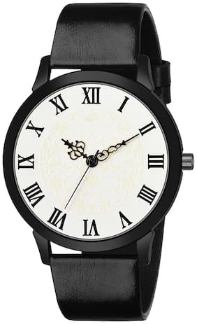 Dainty Radium Vintage Dial Leather Strap Analog Watch - For Men