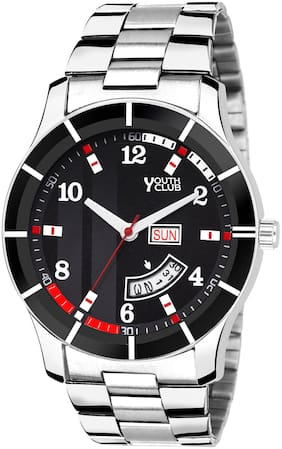 DD-105 BLK Stylish Day & Date Analog Watch - For Men