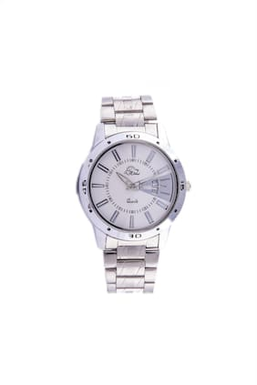 Derz Analogue Stainless Steel Day & Date White Dial Men's Watch