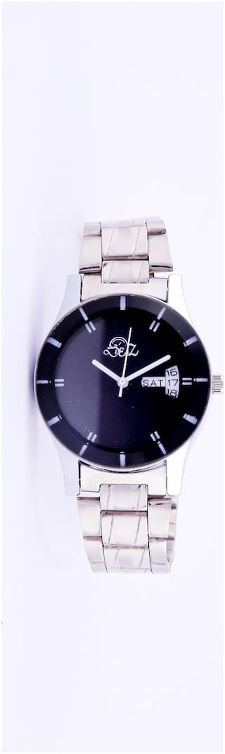 Derz Black Day and Date Analog Watch For Men - DZ 005