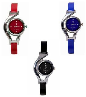 Designer Analog Watch Combo For Girls And Women