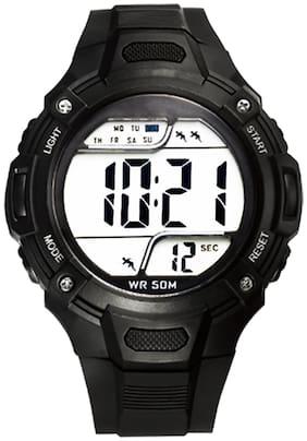 DIRAY Digital EL JUMP Series Chrono Alarm & Multi-function Black Sports Watch For Men-DR312G1