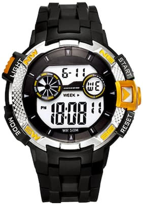 DIRAY Digital Metal Compass Style & Pattern Strap Multi-Functions Sports Watch For Men-DR315G3