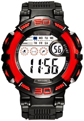 DIRAY Digital Space Hour Series 1/100th  & Alarm Black Sports Watch For Men-DR313G2
