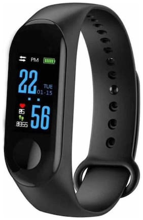 Disipro M3 Smart Fitness Band With Heart Rate Monitor Waterproof Colourful Display Call And Message Alert