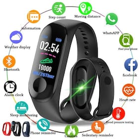 DWC M3 Fitness Band Fitness Band  (Black, Pack of 1)