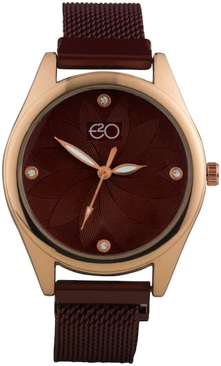 E2O Red Detail Design Analouge Women'S Watch