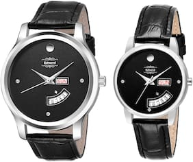 EDMOND  COUPLE DAY AND DATE DISPLAY ANALOG WATCH ED-0367