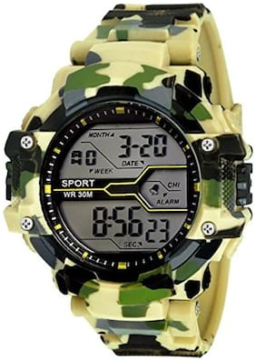 Emartos Army light Green Color Digital Sports Watch For Boys And Mens