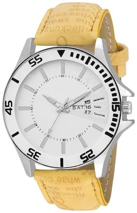 Emartos White Dial Analog watch for mens ( Ceritfied by Professionals )