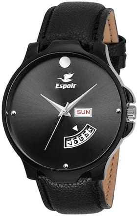 Espoir Analogue Black Dial Day And Date Men's Watch - BlackMovado-Ryan