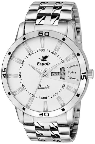 Espoir Analogue Stainless Steel Day & Date White Dial Men's Watch - Sam-Luke0507
