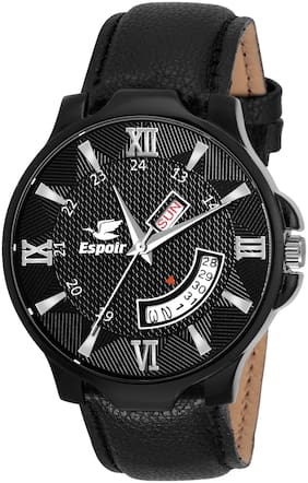 Espoir Analogue Black Dial Day and Date Boy's and Men's Watch - BlackHammer New