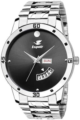 Espoir Analogue Stainless Steel Day And Date Black Dial Men's Watch - BlackMovado-Sam0507