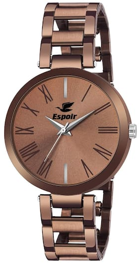 Espoir Analog Stainless Steel Brown Dial Girl's and Women's Watch - ManishaBrown0507