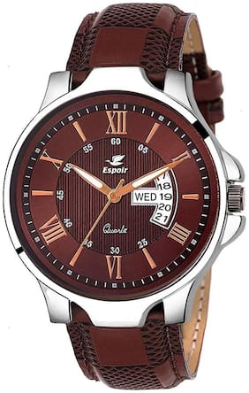 Espoir Analogue Brown Dial Day and Date Boy's and Men's Watch - InfiAnthony