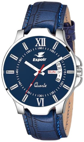 Espoir Analogue Blue Dial Day and Date Boy's and Men's Watch - Max0507