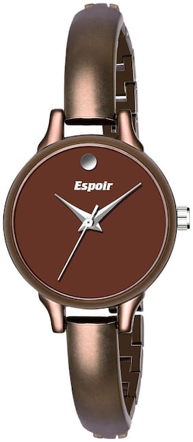 Espoir Analog Stainless Steel Brown Dial Girl's and Women's Watch - Saloni0507