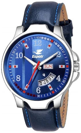 Espoir Analogue Blue Dial Day and Date Men's Boy's Watch - Brock0507