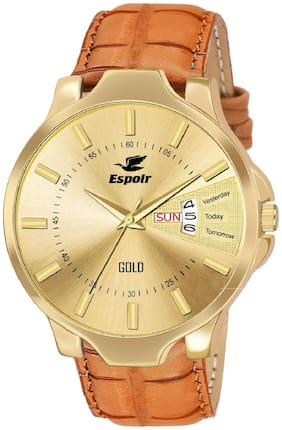 Espoir Analogue Gold Dial Day and Date Men's Boy's Watch - GoldInfiOliver