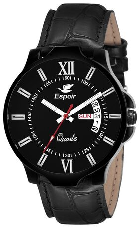 Espoir Analogue Black Dial Day and Date Boy's and Men's Watch - Book0507
