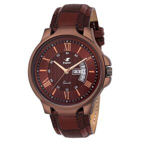 Espoir Analogue Brown Dial Day and Date Men's Boy's Watch - Anthony0507