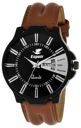 Espoir Analogue Black Dial Day & Date Boy's and Men's Watch- Even0507