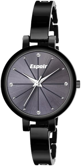 Espoir Analog Stainless Steel Black Dial Girl's and Women's Watch - AngelBlack0507