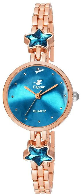 Espoir Analog Rose Style Green Dial Girl's and Women's Watch - GreenRoseStar