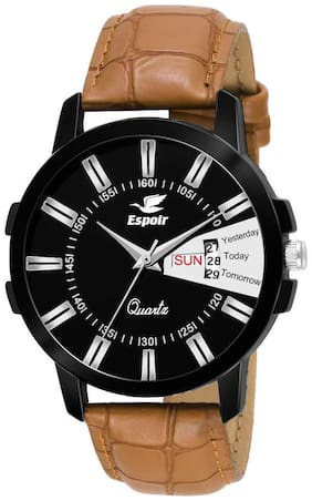 Espoir Analogue Black Dial Day And Date Men's Watch - Earth0507