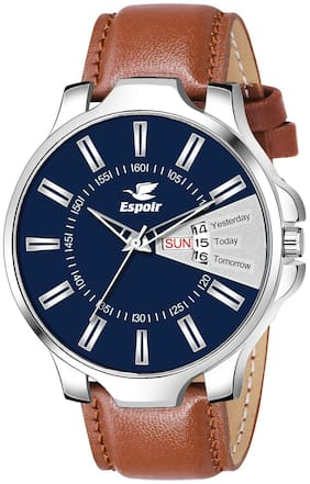 Espoir Analogue Blue Dial Day and Date Boy's and Men's Watch - SammyDex0507