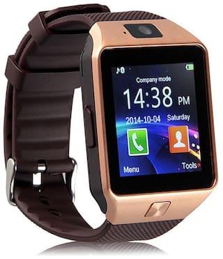 ETN DZ09 Unisex 40 mm Brown Smart Watch