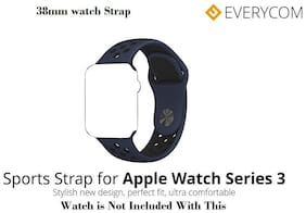 Everycom 38mm Sports Band for Apple Watch 1/2/3 - Obsidian & Black