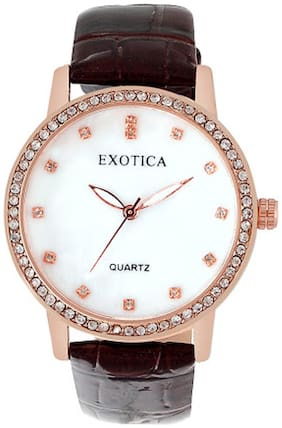 Exotica Fashions Watches Brown Analog Watch