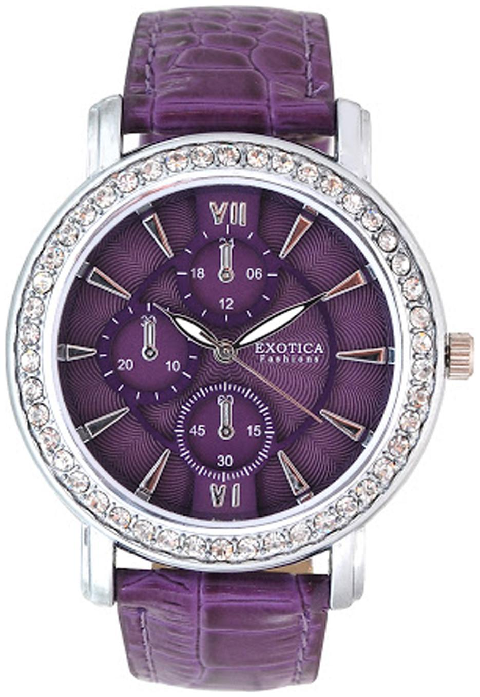 Exotica Fashions Watches Purple Analog Watch by Exotica Fashions