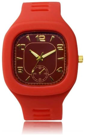FARP Analog red colour Mens Watch