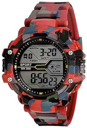 Men Black Digital Watch